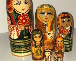 Lot #1 nesting dolls, $18