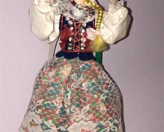 Lot #6 large blond polish dancing doll, $14
