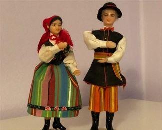 Lot #8 set of two small plastic polish dolls, $8