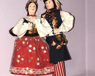 Lot #9 large pair of polish dolls, $28