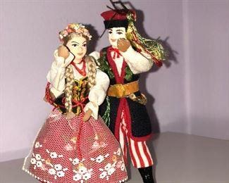 Lot #13 small pair of polish dolls, $12