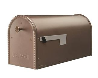 Gibraltar Mailboxes Edwards Large Capacity Galvanized Steel Venetian Bronze Post Mount Mailbox, EM160VB0