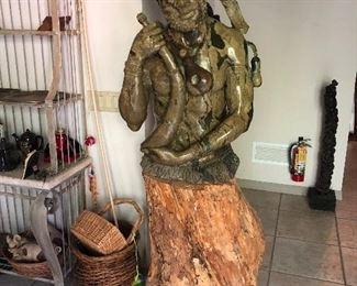 Spiritual Healer stone carving by Peter Chikumbirike