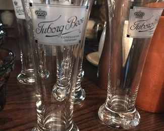 Tuborg Beer Glasses  7 (each) (five available)