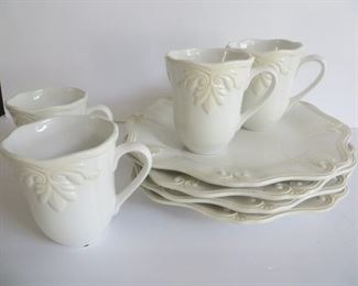Lenox Butler's Panty:  4 dinner plates and 4 mugs. NEW.  $90