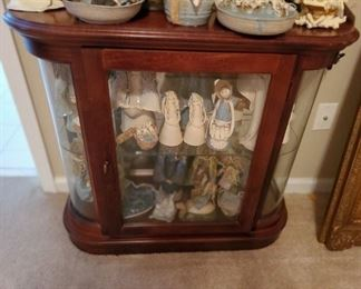 Very nice small lighted display cabinet