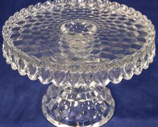 Lot# 1 - Fostoria glass cake stand