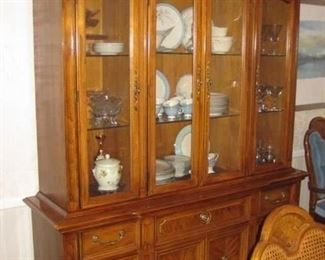 "$150, Thomasville china cabinet, VG condition, 85"" Tall by 66"" wide"