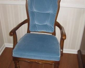 closeup of dining room chair set
