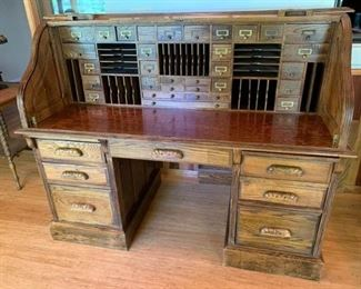 Cool Old Roll Top Desk