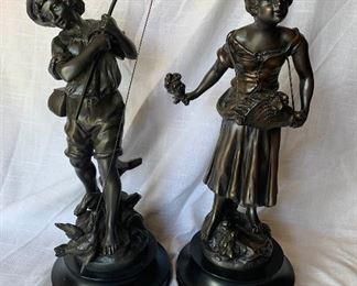 2 Bronze Sculptures by L.F. Moreau https://ctbids.com/#!/description/share/409595