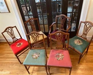 6 Embroidery Chairs