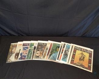 Vintage E tude Magazine 15 VERY well cared for Vintage Etude magazines Notes Any and all items used to display the lot are NOT included with the lot