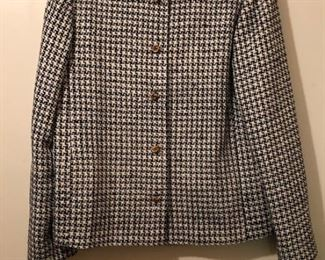Women's Houndstooth Silk Box Jacket.  Fully lined.  Excellent condition.