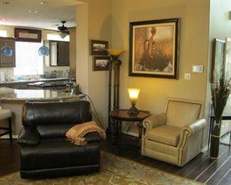 Star Furniture Flexsteel Power Recliner (2 total) Electric, dark brown. MSRP $899 each