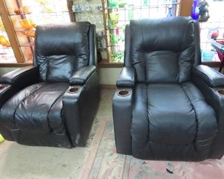 2 of 3 Movie Theater Leather Chairs 100.00 each