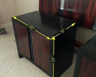 Item 21: Pair - Rosewood Nightstands $225    Some wear and marks on the tops. Fair condition.