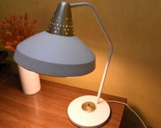 Item 27: White Desk Lamp  $35  Aluminum head, white shade, white diffuser. Very good condition.
