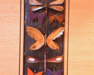 """Item 41: Metal Butterflies  $48   Approximately 6"""" x 14"""" (will get exact measurements), unmarked. Good condition."""