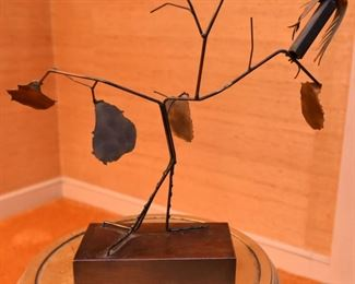 Item 44: Butalist Owl in Tree sculpture  $45
