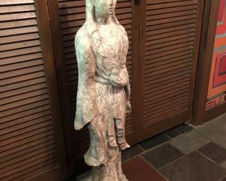 Item 54: Cast Metal Quan Yin Statue  $245  Excellent condition.