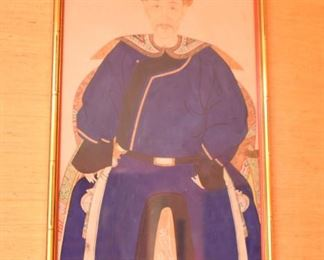 Item 69: Male Chinese Ancestor Portrait  $350  Hand-painted. Excellent condition.