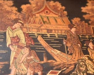 Item 72: Detail of black lacquered Japanese box  $24