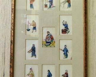 ITEM 75: Chinese miniature portraits on parchement $28