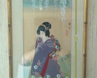 ITEM 77: Japanese geisha in lavender kimono  $28