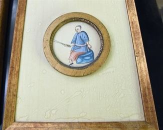 ITEM 79: Small Chinese painting on parchement $28