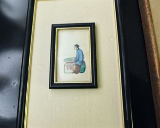 ITEM 80: Small Chinese painting on parchment $28