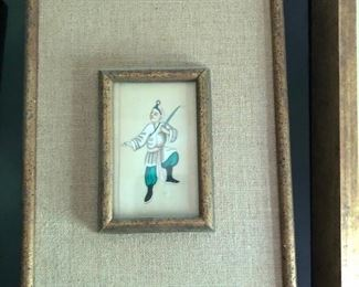 ITEM 81: Small Chinese painting on parchment $28