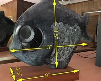 ITEM 83: Vintage Klara Sever modernist fish sculpture produced by Austin Productions  $75