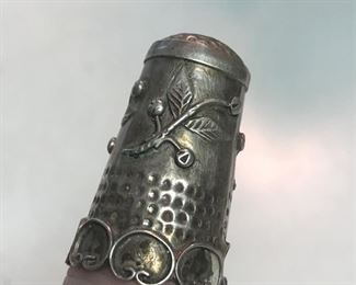 ITEM 84: Sterling silver thimble  $20