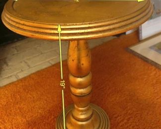 ITEM 96: Gilt Wood Stand  $25  Plant stand, side table or whatever you want it to be.