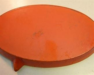 ITEM 101: Enameled cast iron roasting pan Large $25 Made in Belgium