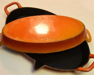ITEM 100 & 101: Enameled cast iron roasting pans  Small  $20; Large $25 Made in Belgium