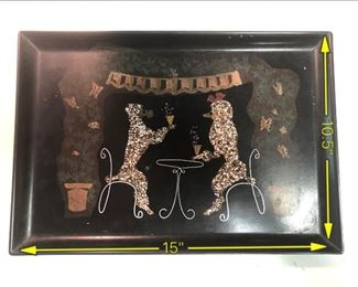 ITEM 102: Couroc Poodles Having Drinks Tray  $22