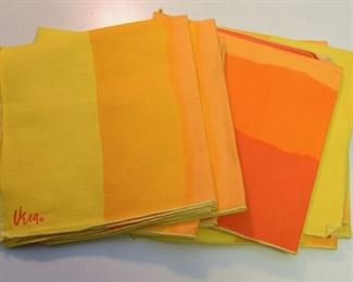 ITEM 105: Vintage Vera Linen Napkins, Set of 12  $18  Good condition.