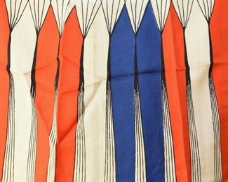 ITEM 112: Vintage Red, White, and Blue Long Scarf  $10