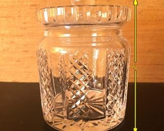 ITEM 90: Glass biscuit jar. $12  Unmarked