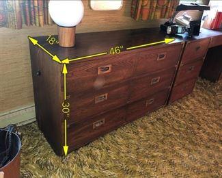 ITEM 122: Vintage Lane Campaign Dresser  $145