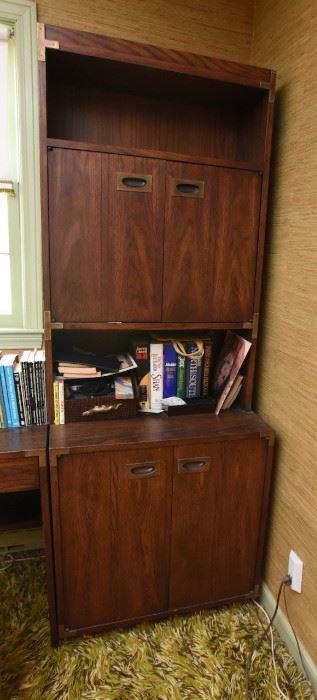 ITEM 124: Vintage 2-Piece Lane Campaign Cabinet and Hutchtop  $150