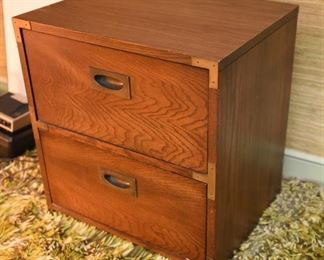 ITEM 125: Vintage Campaign Nightstand  $65  Only one available