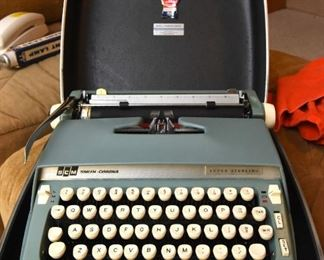 ITEM 131: Smith Corona Super Sterling Typewriter $65 in the original case. It works!