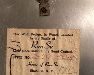 Item 134: House of RanSu Trojan Wall Hanging  $25