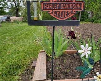 Harley Davidson Garden Sign
