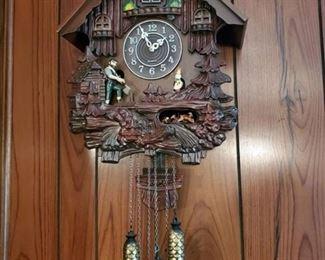 Quartz Cuckoo Clock - Maiden and Lumberjack