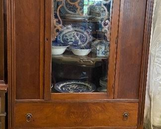 Vintage Small 1Door China Cabinet