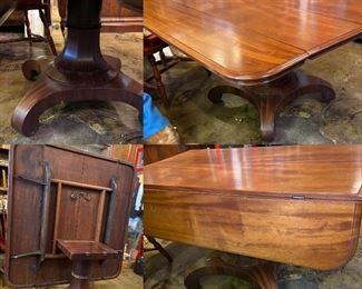 Empire Tilt Top Drop Leaf Mahogany Table